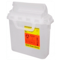 3 Gallon Pearl BD Sharps Container with Counterbalanced Door 305423