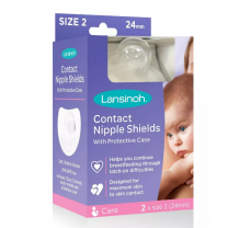 Lansinoh Contact Nipple Shields with Case - 20 & 24mm