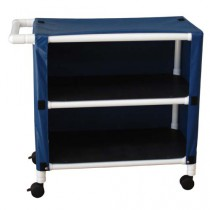 PVC Long Linen Cart with Two Shelves