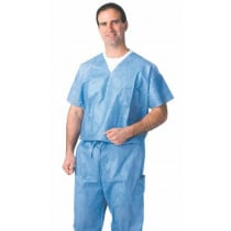 Disposable V-Neck Scrub Shirts