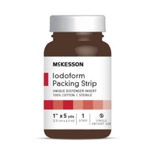 McKesson Iodoform Gauze 1 Inch Packing Strips