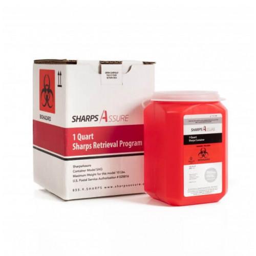 Sharps Assure 1-Quart Sharps Retrieval Program SAQ