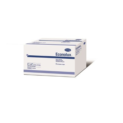 Hartmann 416816 Econolux 4 x 4 Inch Gauze Sponge 8 Ply, Box of 200