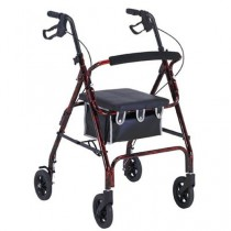 Probasics Flame Finish Aluminum Rollator with Loop Brakes