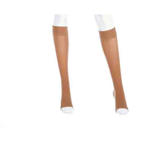 Mediven Plus Knee High Compression Stockings Extra Wide Calf w/ Silicone Top Band 20-30 mmHg OPEN TOE
