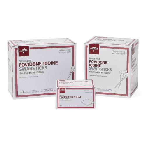 MedLine Povidone-Iodine PVP Swabsticks