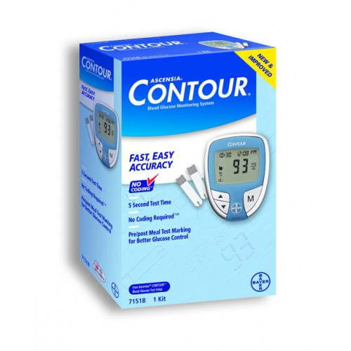 The Ascensia Contour Blood Glucose Monitoring System Is