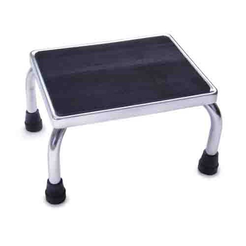 Chrome Foot Stools with Rubber Mat