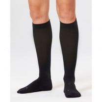 Women's Compression Run Socks, Black/Black