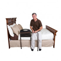 Stander Mobility Bed Rail w/ Man Transitioning to Standing from Bed