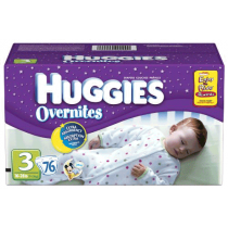 Huggies Overnites Unisex Diapers size 3