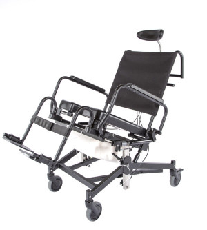 285TR Rehab Shower/Commode Chair-Tilt, Recline, Seat Height Adjustment