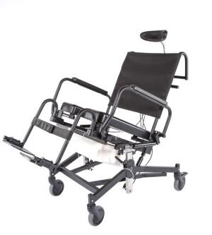 285TR Rehab Shower/Commode Chair-Tilt, Recline, Seat Height Adjustment
