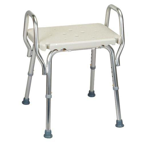 Shower Chair with Arms and Drainage Holes