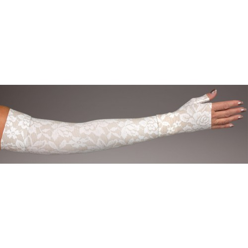 LympheDivas Darling Fair Compression Arm Sleeve 20-30 mmHg w/ Diva Diamond Band