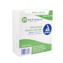 Dynarex 4 x 4 Inch Advantage Gauze Sponge 12 Ply, Sterile - 3369
