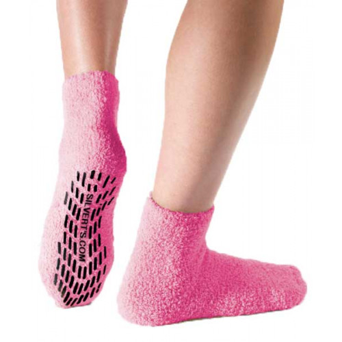 Pink Non Skid Socks, Non Slip Socks, Hospital Socks by Silverts