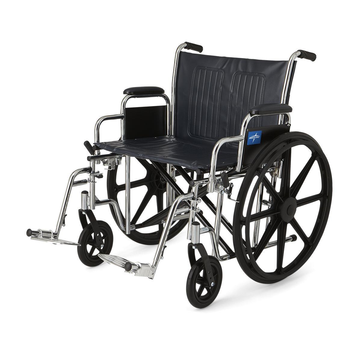 medline extra wide wheelchair 4e4