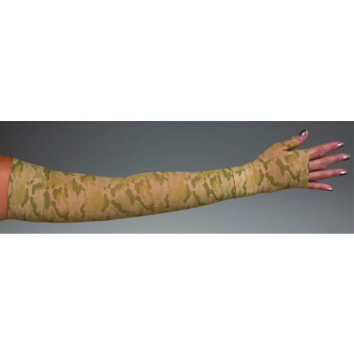 LympheDivas Camouflage Compression Arm Sleeve 20-30 mmHg w/ Diva Diamond Band