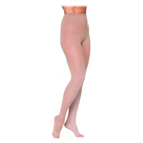 Sigvaris 780 Eversheer Women's Compression Pantyhose - 783Pot OPEN TOE 30-40 mmHg