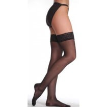 Juzo Hostess 2502 Thigh High Compression Stockings w/ Silicone Top Band CLOSED TOE 30-40 mmHg