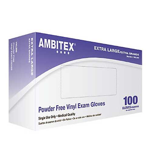 Ambitex Powder Free Vinyl Exam Gloves V200 Series