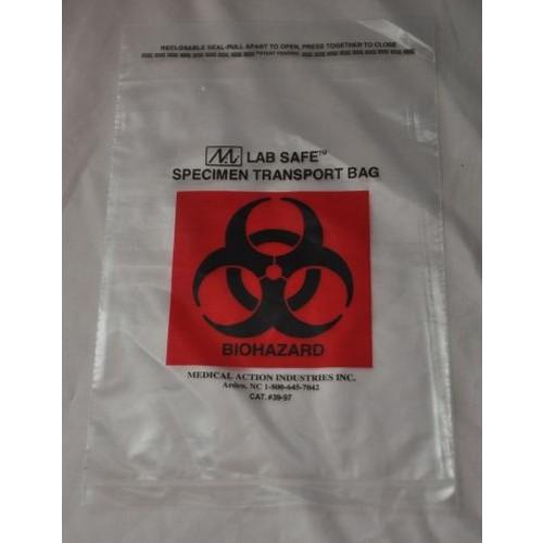 Biohazard Symbol Specimen Transport Bag