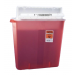 4 Gallon Transparent Red SharpSafety Sharps Container with Counterbalance Lid 8541SA