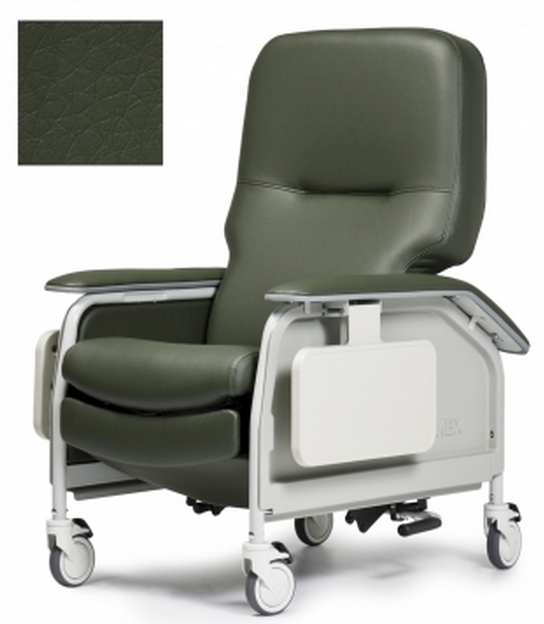 lumex deluxe clinical care geri chair recliner with tray 7ad