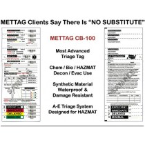 METTAG Biological/Chemical Emergency Triage Tags