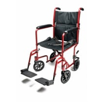 Everest & Jennings Lightweight Aluminum Transport Chair - 17 inch seat