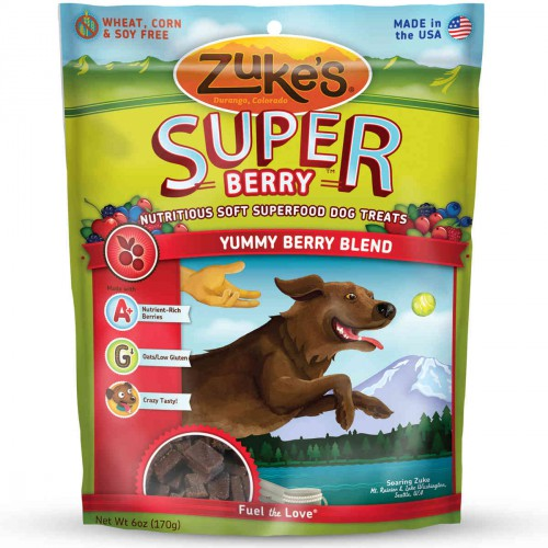 Supers All Natural Nutritious Soft Superfood Dog Treats Yummy Berry