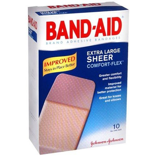 Band Aid Extra Large Sheer Comfort Flex