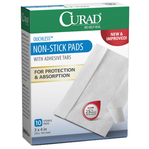 CURAD Non Stick Pads with Adhesive Pads