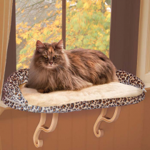 K and H Pet Products Deluxe Kitty Sill With Bolster