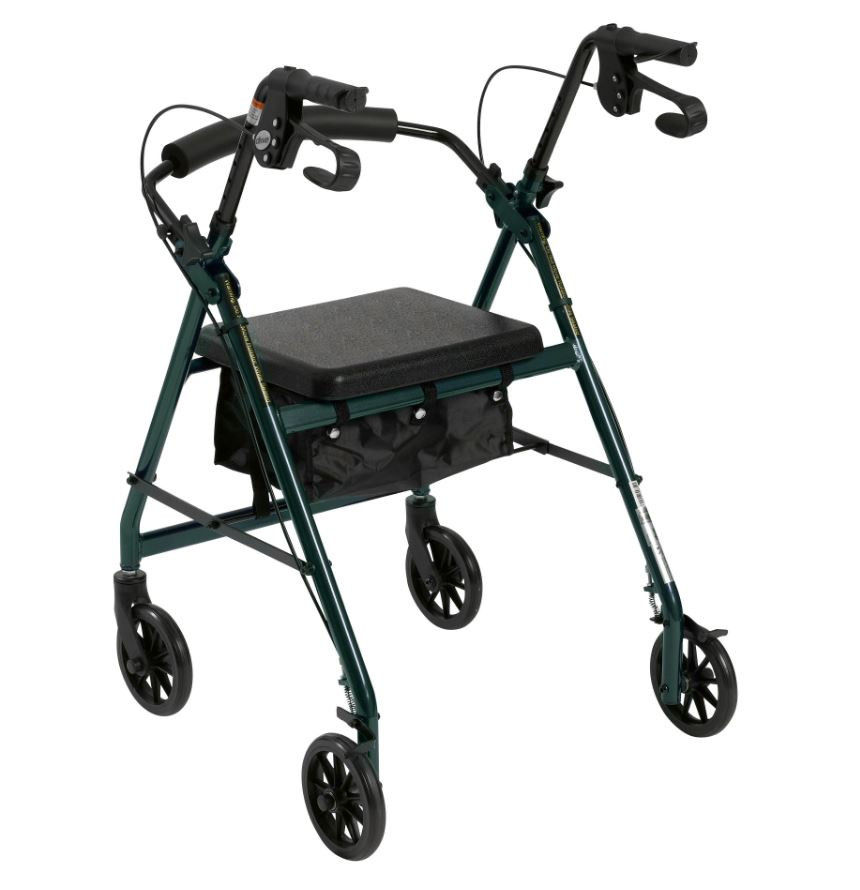 lightweight rollator with fold up and removable back support by drive 322