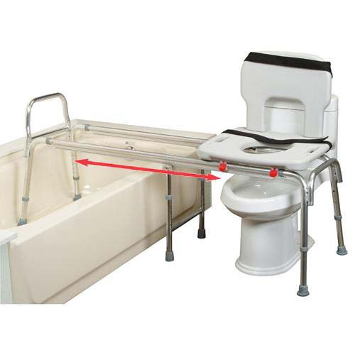 More Views - Eagle Health Toilet To Tub Sliding Transfer Bench XX Long 67993