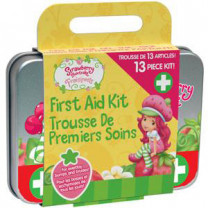 Cosrich Strawberry Shortcake Kids First Aid Kit, 13-Piece Tin