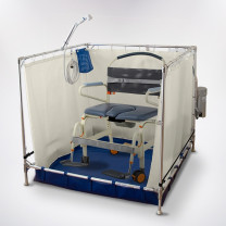 FAWSsit Fold Away Bariatric Wheelchair Shower (Wheelchair Not Included)