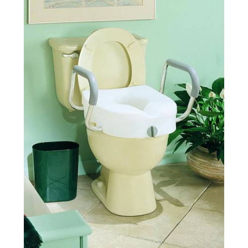 EZ Lock Raised Toilet Seat