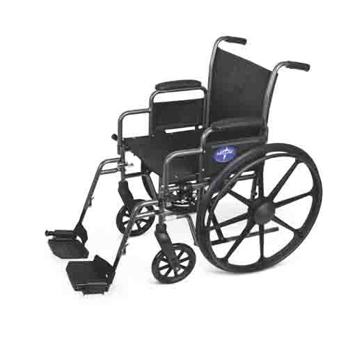 Medline Strong and Lightweight Wheelchair with Removable Desk-Length Arms