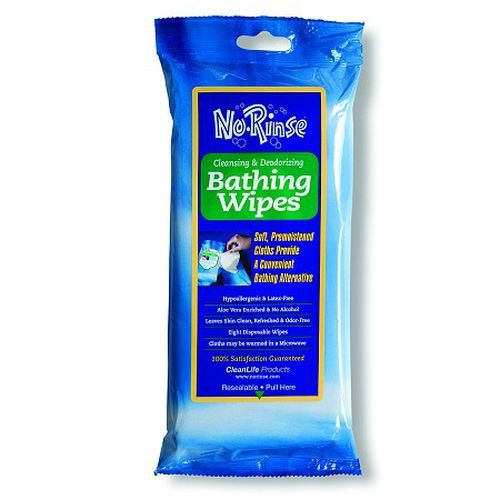 No Rinse Benzalkonium Bathing Wipes