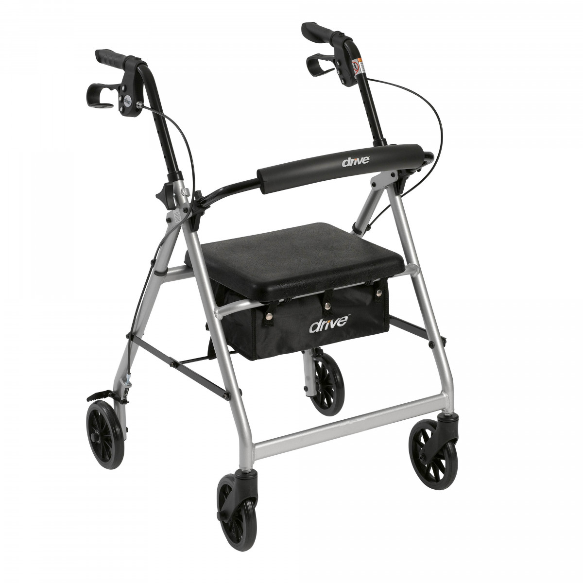 lightweight rollator with fold up and removable back support by drive 9b4