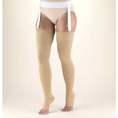 TRUFORM Classic Medical Thigh High Support Stockings OPEN TOE 20-30 mmHg
