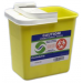 8 Gallon Yellow SharpSafety Sharps Container with Hinged Lid 8985