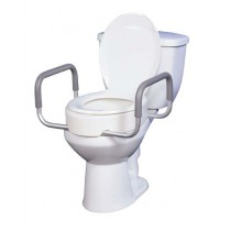 Premium Elevated Toilet Seat Rizer with Removable Arms