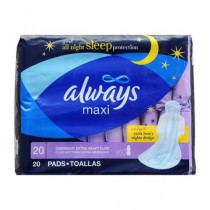 Always Overnight Maxi Pads with Wings