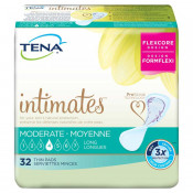 TENA Intimates Moderate Thin Pads Long