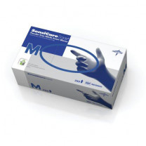 SensiCare Ice Blue Nitrile Exam Gloves, Latex Free