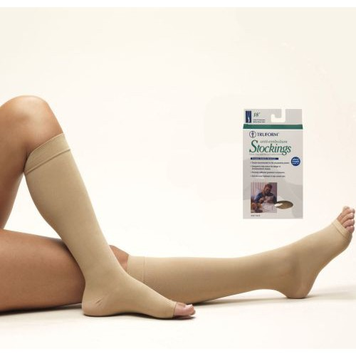 Anti-embolism Knee High Open Toe Stockings - Short